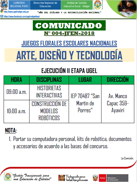 Comunicado Areas Digitales
