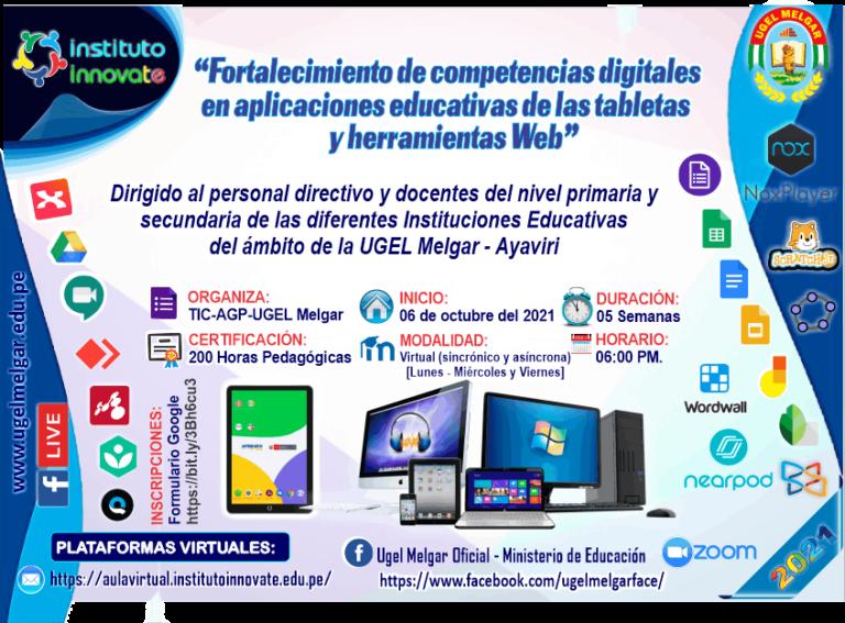 Afiche Tabletas UGEL Melgar - 2021